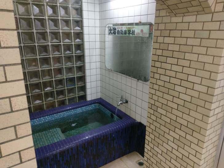 地下水の水風呂はシャキッとして気持ちいい