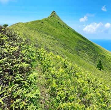 vue du mont Hiro depuis le plateau