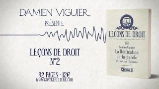 """Damien Viguier présente """"La Réification de la parole et autres fictions"""""""
