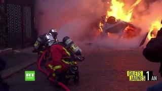 L'arc de Triomphe au cœur du chaos : images exclusives de l'acte 3 à Paris