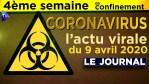 JT du jeudi 9 avril 2020 – Coronavirus : l'actualité quotidienne