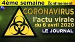 JT du lundi 6 avril 2020 – Coronavirus : l'actualité quotidienne