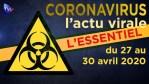 JT – Coronavirus : retour sur l'actualité du 27 au 30 avril