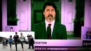 Justin Trudeau – Une application pour informer les gens exposés à la COVID-1984…