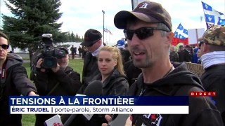 Manifestations Pro et Anti Migrants Tendues À Saint-Bernard-De-Lacolle – TVA 30 Septembre 2017