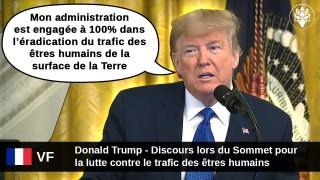 [VF] Donald Trump – Sommet pour la lutte contre le trafic d'êtres humains – 31 Janvier 2020
