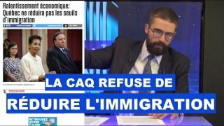 Explosion du chômage : la CAQ refuse de réduire l'immigration