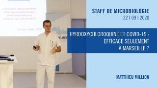 Hyrdoxychloroquine et COVID-19 : efficace seulement à Marseille ?