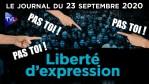 Liberté d'expression : la blague de la bien-pensance – JT du mercredi 23 septembre 2020