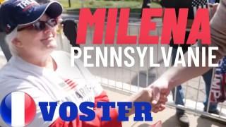 [VOSTFR] Campagne en Pennsylvanie, Milena venue supporter Trump s'exprime [CENSURÉ]