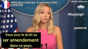 """[VOSTFR] Kayleigh McEnany """"Vous avez le droit au premier amendement dans ce pays."""""""