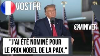 """[VOSTFR] Trump: Discours dans le Michigan """"J'ai été nominé pour le Prix Nobel de la Paix."""" [CENSURÉ]"""