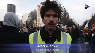 Manifestation du 10 décembre à Paris (avec François Asselineau et Juan Branco)
