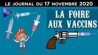 La folle course aux vaccins se poursuit – JT du mardi 17 novembre 2020