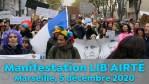 Manifestation LIB'AIRTÉ à Marseille le 5 décembre 2020