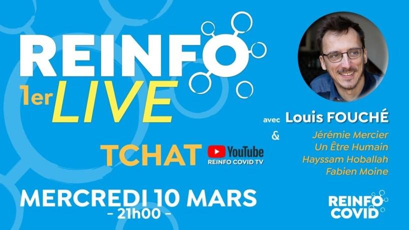 1er REINFO LIVE, avec Louis Fouché, Jérémie Mercier, Un être humain, Hayssam Hoballah, Fabien Moine