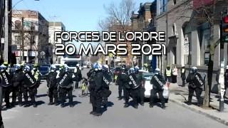 ActuQc : Forces de l'ordre – Marche 20 mars