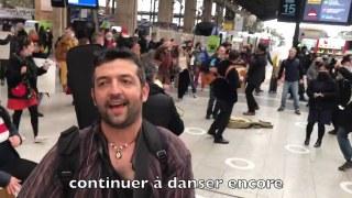DANSER ENCORE de HK  Flashmob à Gare du Nord (4 Mars 2021)