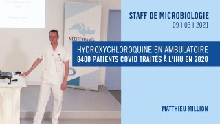 Hydroxychloroquine en ambulatoire : 8400 patients COVID traités à l'IHU en 2020