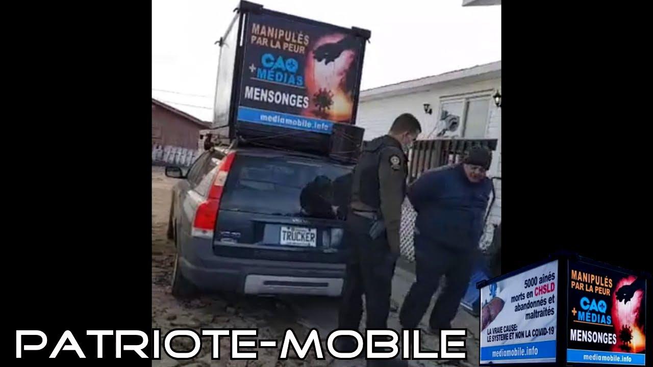 ActuQc : ARRESTATION DU CONDUCTEUR DE LA PATRIOTE-MOBILE