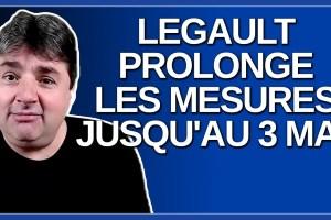 Legault annonce qu'il prolonge les mesures jusqu'au 3 mai dans les 3 régions.