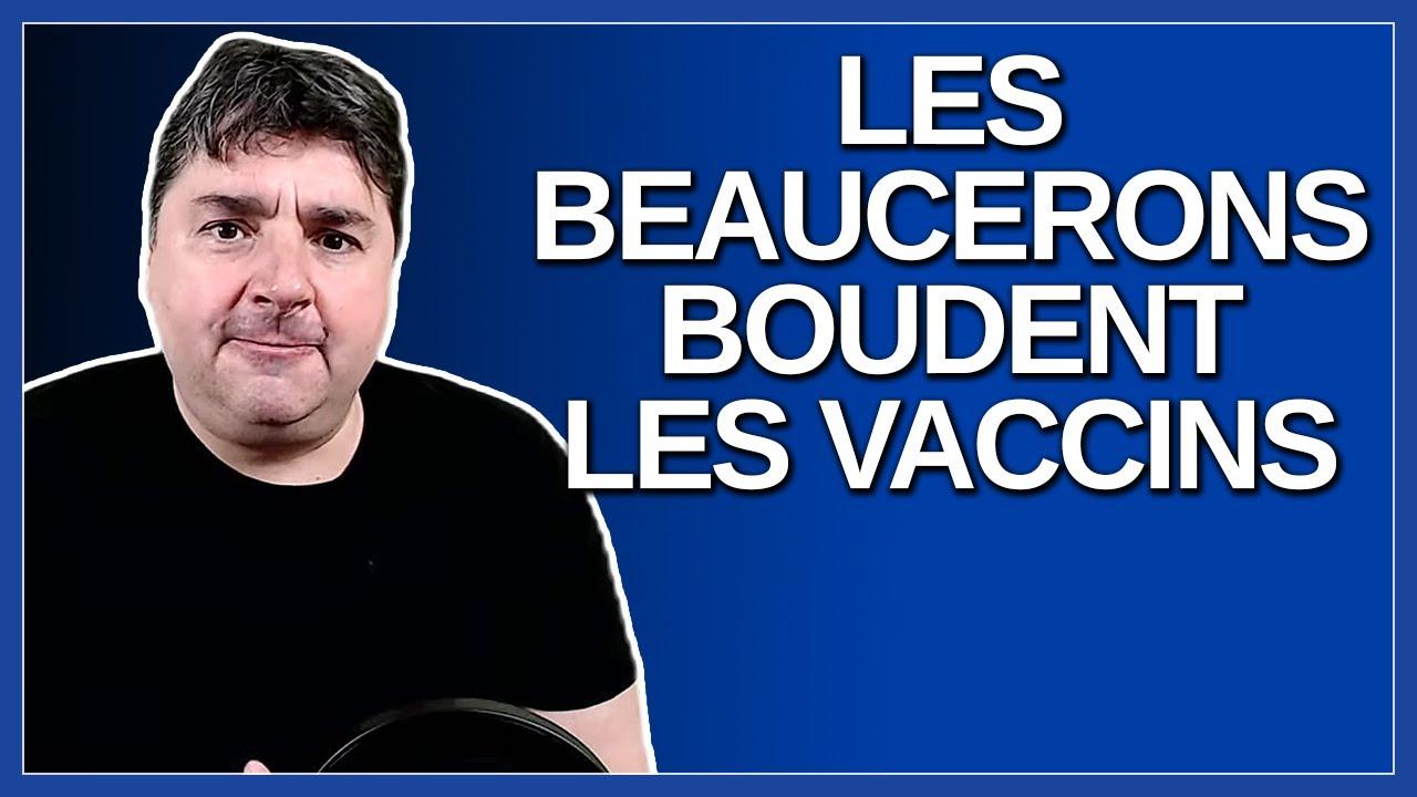 Les beaucerons boude les vaccins. Dit un journaliste de la Beauce à M. Christian Dubé.