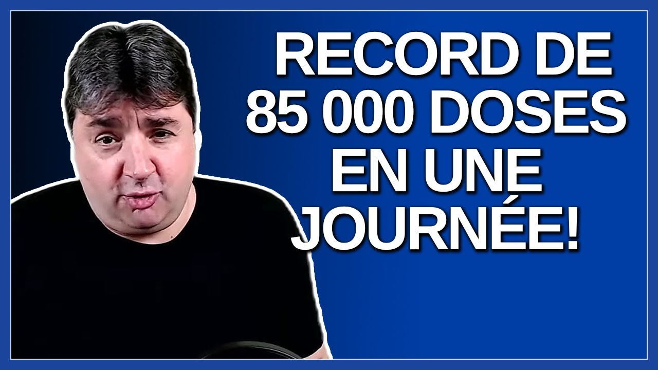 Record de 85 000 doses en une journée ! Merci les québécois.  Dit M. Christian Dubé.