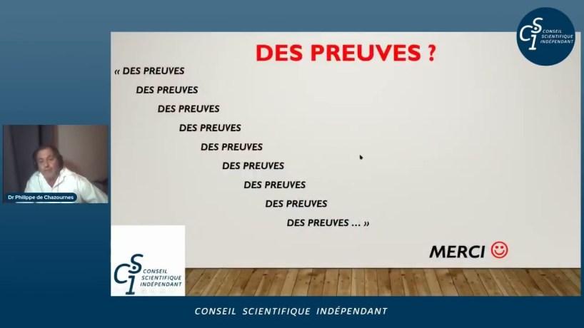 Réunion publique du Conseil Scientifique Indépendant du 8 avril 2021 (extrait) : Ph. de Chazournes