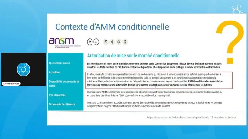 Saga Immunité artificielle – Episode I: l'AMM conditionnelle