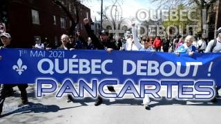 ActuQc 2/3 : La marche + Les pancartes – QUÉBEC DEBOUT!  …Une image vaut mille mots!