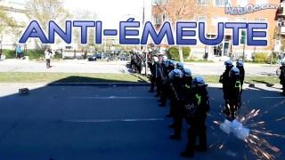 ActuQc 3/3 : Les Antifas se font disperser par la Police QUÉBEC DEBOUT!