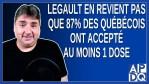 Legault en revient pas que 87% des québécois ont accepté au moins 1 dose