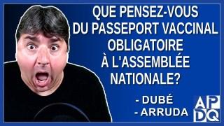 Que pensez-vous du passeport vaccinal à l'assemblée nationale