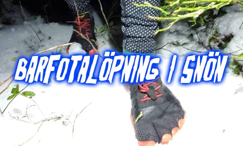barfotalöpning vinter