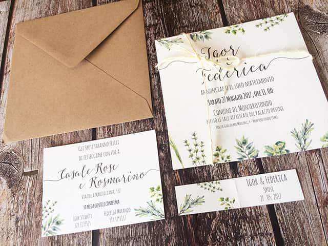 invitaciones de boda tema de especias
