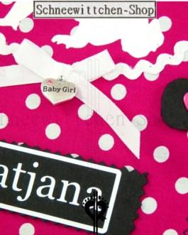 U-Hefthülle mit Baby | pink