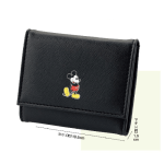 【雑誌8/1】mini 2017年 9月号付録:フリークス ストア クラシックミッキー上質レザー三つ折り財布。