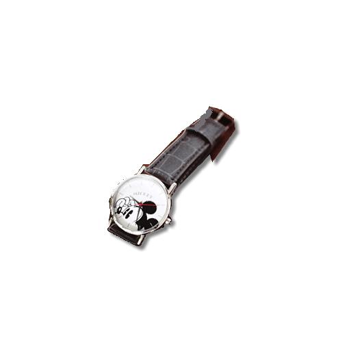 SPRiNG 2017年 10月号付録:ミッキーマウス クロコレザー調腕時計。