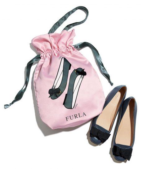 25ans (ヴァンサンカン) 2017年11月号付録:「FURLA」シューズバッグ。