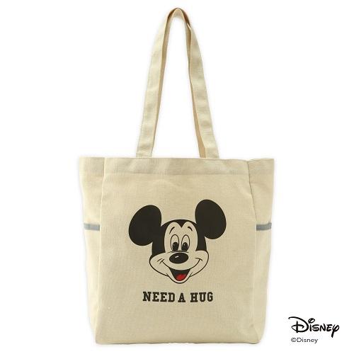 mini(ミニ) 2018年 3月号付録:Lee特製ミッキーマウスの3ポケットトートバッグ。