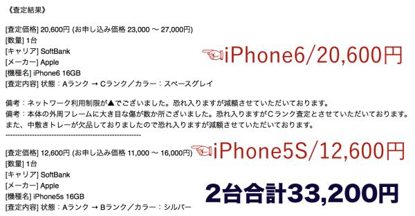 バイヤーズのiPhone買い取り価格