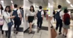 【クズ】新宿駅で女性にタックルする男の動画がやばい…(動画あり)