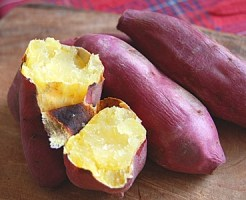 焼き芋,皮,簡単,剥く,サツマイモ