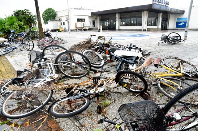 台風 自転車 外