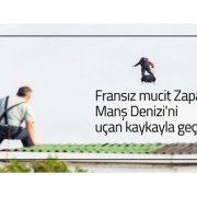 Fransız mucit Zapata, Manş Denizi'ni uçan kaykayla geçti