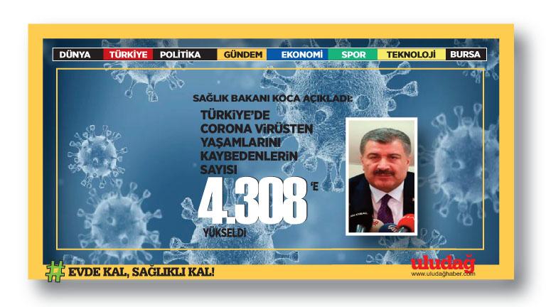 Türkiye'de corona virüsten son 24 saatte 32 can kaybı daha!
