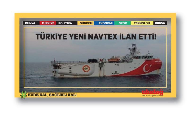Oruç Reis gemisi Akdeniz'de (Yeni Navtex ilan edildi)