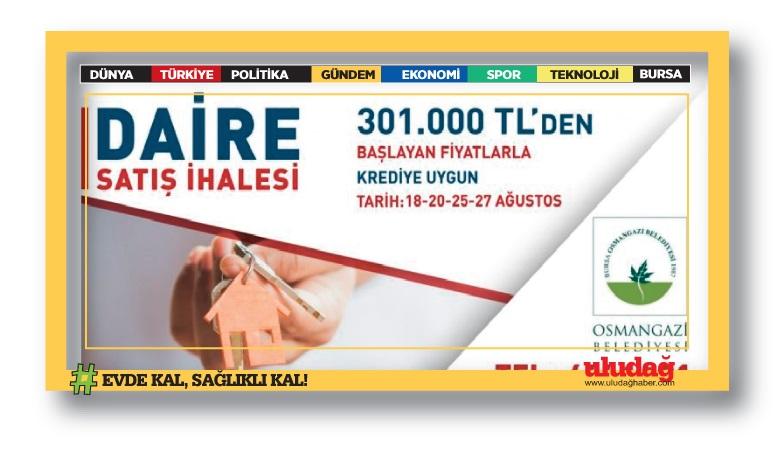 Bursa Osmangazi Belediye Başkanlığı'ndan gayrimenkul satışı …