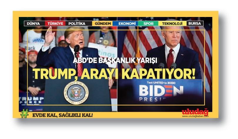 ABD'deki başkanlık yarışında Biden önde, Trump arayı kapatıyor