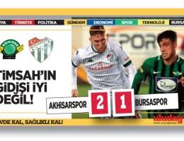 Akhisarspor – Bursaspor : 2-1